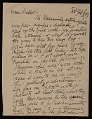 view William Zorach letter to Dahlov Zorach Ipcar digital asset number 1