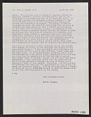 view Letter from Walter Gropius to John J. McCloy digital asset number 1