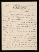 view Giorgio De Chirico, Milan, Italy letter to Jacques Seligmann digital asset number 1