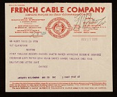 view Giorgio De Chirico, Paris, France telegram to Jacques Seligmann, New York, N.Y. digital asset number 1