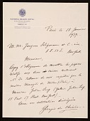 view Giorgio De Chirico, Paris, France letter to Jacques Seligmann, New York, N.Y. digital asset number 1
