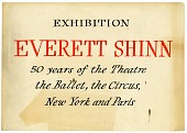 view Everett Shinn exhibition sign digital asset number 1