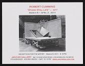 """view Exhibition announcement for <em>Robert Cumming: """"Studio Still Life""""- 1977</em> digital asset number 1"""