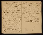view Eastman Johnson, New York, N.Y. letter to Thomas B. (Thomas Benedict) Clarke, New York, N.Y. digital asset number 1