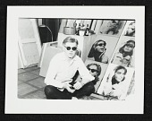 view Andy Warhol with multipanel portrait of Ethel Scull digital asset number 1