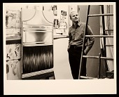 view James Rosenquist in his studio with <i>Paint Brush</i> digital asset number 1