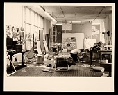 view James Rosenquist in his studio digital asset number 1