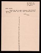 view Mel Bochner, New York, N.Y. letter to Ellen H. Johnson digital asset number 1
