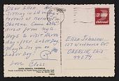 view Claes Oldenburg postcard to Ellen H. Johnson digital asset: postcard back 1
