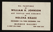 view Announcement for William H. Johnson and Holcha Krake exhibit digital asset number 1