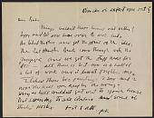 view Jackson Pollock letter to Reuben Kadish digital asset number 1