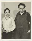 view Photograph of Frida Kahlo and Diego Rivera digital asset: page 1