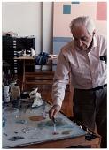 view Jacob Kainen mixing paint digital asset number 1