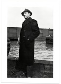 view Jacob Kainen in coat and hat digital asset number 1