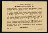 view Louis Michel Eilshemius' business card digital asset number 1