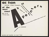 view Flyer for the <em>Action I</em> exhibit digital asset number 1