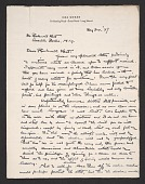 view Max Weber, Long Island, N.Y. letter to Rockwell Kent, Ausable Forks, N.Y. digital asset number 1