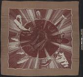 view <em>Moby Dick</em> silk scarf designed by Rockwell Kent digital asset number 1