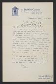 view Rockwell Kent, Albany, N.Y. letter to Sally Kent Gorton, Au Sable Forks, N.Y. digital asset number 1
