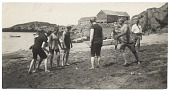 view Rockwell Kent and friends playing ball on the beach digital asset number 1