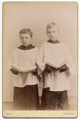 view Rockwell Kent and his brother Douglas in choir uniforms digital asset number 1