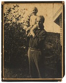 view Rockwell Kent outdoors with a young child digital asset number 1