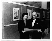 view Rockwell Kent and an unidentified woman in a gallery digital asset number 1