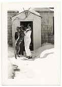 view Rockwell Kent playing in the snow with his dog digital asset number 1