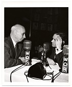 view Rockwell Kent during a radio interview digital asset number 1