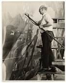 view Rockwell Kent working on a mural for the World's Fair digital asset number 1