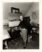 view Rockwell Kent working on a painting digital asset number 1