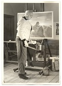 view Rockwell Kent with a painting digital asset number 1