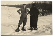 view Rockwell Kent and an unidentified individual in the snow digital asset number 1