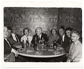 view Rockwell Kent and others sitting around a table digital asset number 1