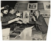 view Rockwell Kent at the opening of his war poster exhibition digital asset number 1