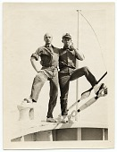 view Rockwell Kent and Ole Ytterock on a boat to Tierra Del Fuego digital asset number 1