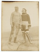 view Photograph of Rockwell and Frances Kent in traditional Inuit clothing digital asset number 1