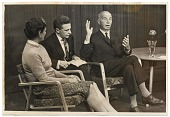 view Rockwell and Sally Kent being interviewed for Moscow television digital asset number 1