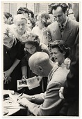 view Rockwell and Sally Kent at a book signing in Moscow digital asset number 1
