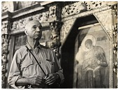 view Rockwell Kent in a local church during a visit to the USSR digital asset number 1