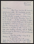 view William Kienbusch letters to Francis and Sydney Hamabe, 1958-1977 digital asset number 1