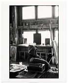 view Harold Hugo in his studio digital asset number 1