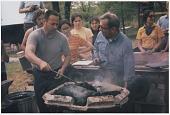 view Fred Fenster and Alex Bealer at a blacksmithing workshop digital asset: page 1