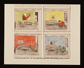 view Sketches of various color and furniture schemes for each CBS entrance digital asset number 1