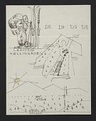 view Eero Saarinen illustrated note to Florence Knoll Bassett digital asset number 1