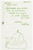 view Miguel Cubiles, Mexico, to Helen L. Kohen, Miami, Fla. digital asset: page 1