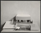 view Model of a school in Attleboro, Mass., complete with mock-up of a mural by Robert Motherwell digital asset number 1