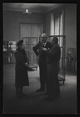 view Samuel Kootz with unidentified woman and man in exhibition digital asset number 1