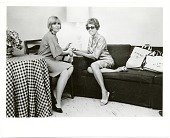 view Joan Kron and Audrey Sabol seated during a NY times interview digital asset number 1