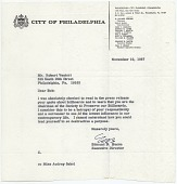 view Edmund N. Bacon, Philadelphia, Pa. to Robert Venturi, Philadelphia, Pa. digital asset number 1